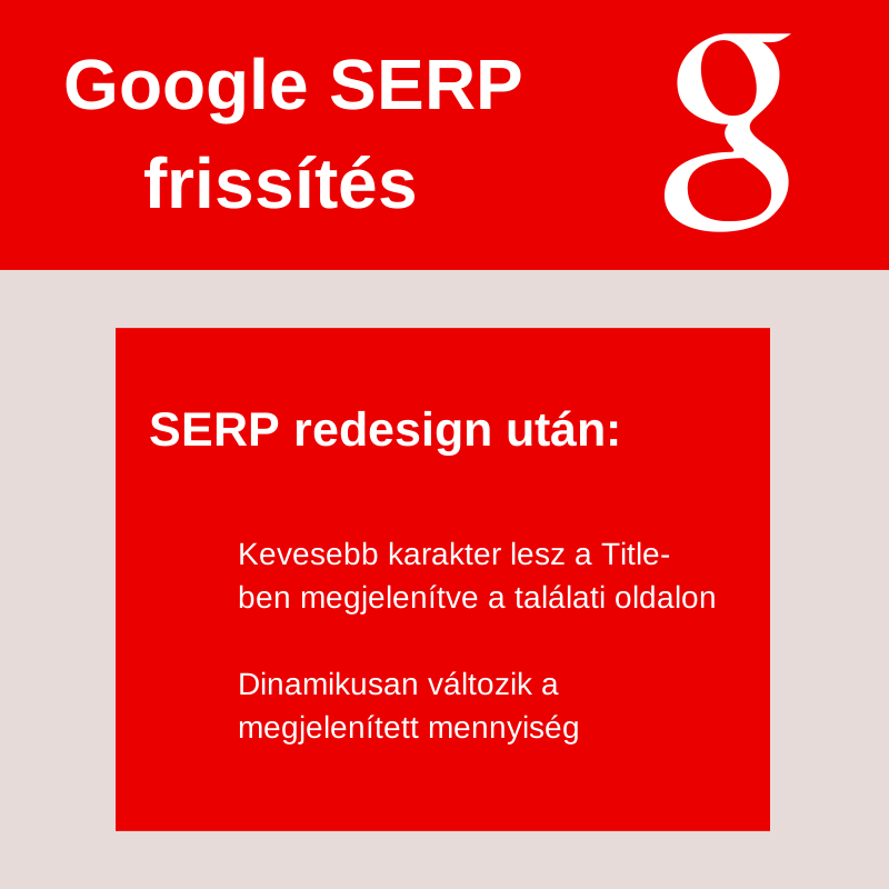 Frissült a Google SERP!