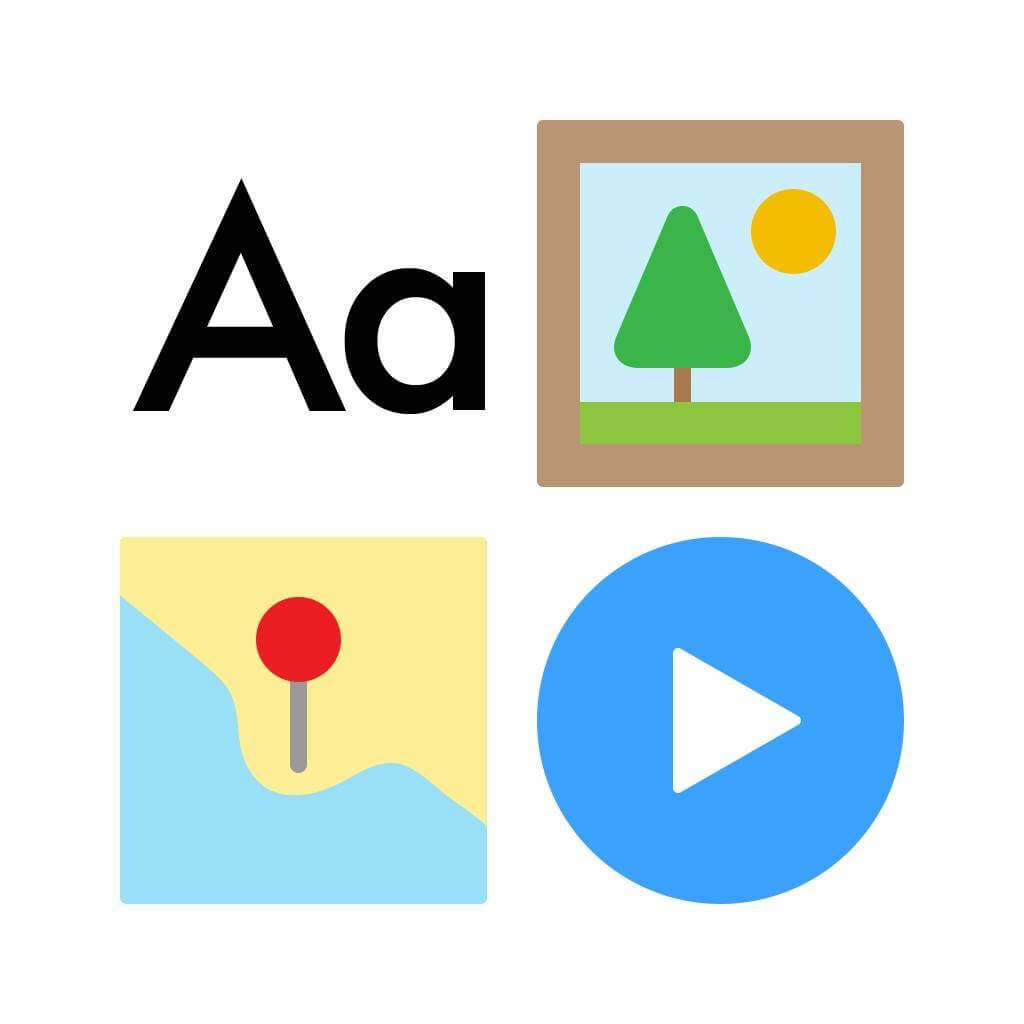 A szöveges tartalom mellett képet, videót és Google térképet is használhatunk, sőt a kép alatt akár narráció is futhat.