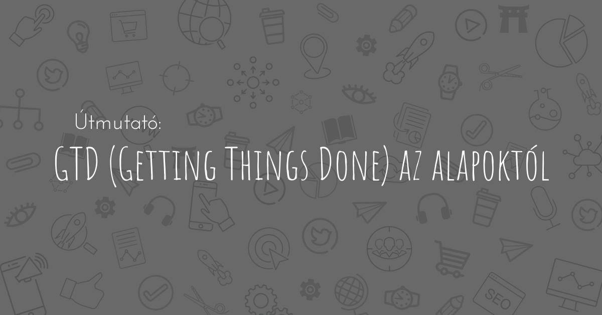 A Getting Things  Done módszer lényege, hogy hogyan tudsz jelen lenni bármikor, bármilyen témával kapcsolatban. Akár munka, akár magánélet a téma.
