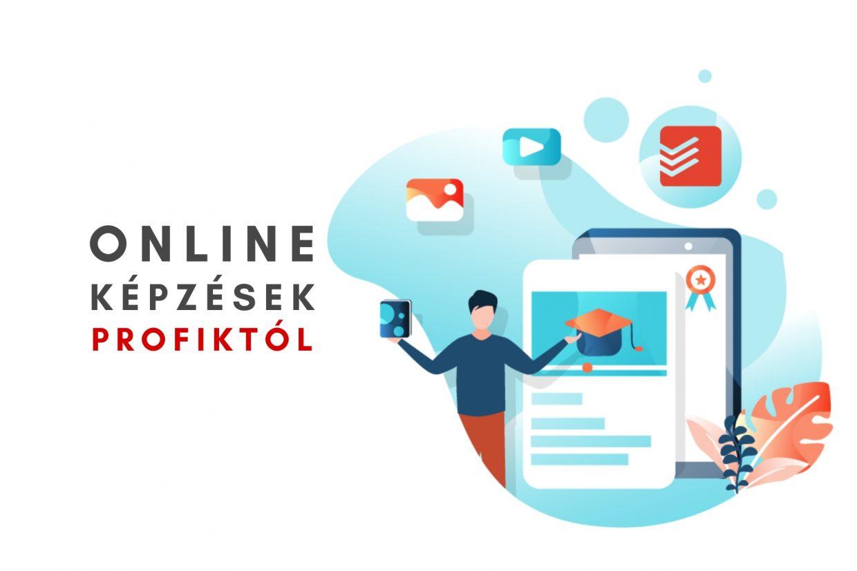 Hatékonyság és online marketing témában képzéseink. Ha szeretnél tanulni, fejleszteni magad, akkor tedd meg online, kényelmesen!